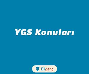 2019 YGS Kimya Konuları