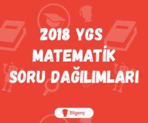 2018 YGS Matematik Soru Dağılımları