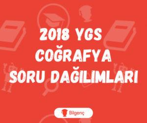 2018 YGS Coğrafya Soru Dağılımları