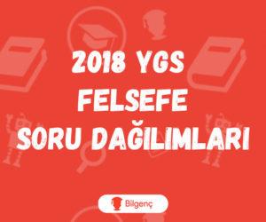 2018 YGS Felsefe Soru Dağılımları