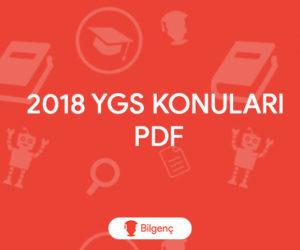 2018 YGS Konuları PDF