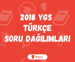 2018 YGS Türkçe Soru Dağılımları