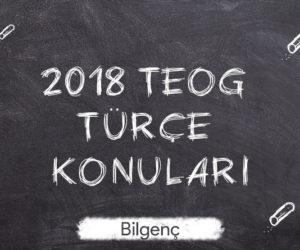2018 TEOG Türkçe Konuları