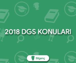 2018 DGS Konuları ve Soru Dağılımları