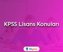 2018 KPSS Lisans Konuları