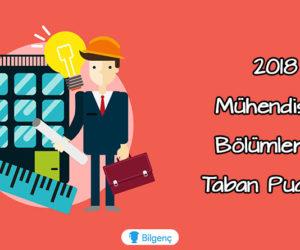 2018 Mühendislik Bölümlerinin Taban-Tavan Puanları