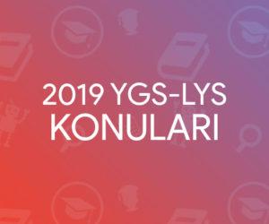 2019 YGS LYS Konuları ve Soru Dağılımları (ÖSYM)