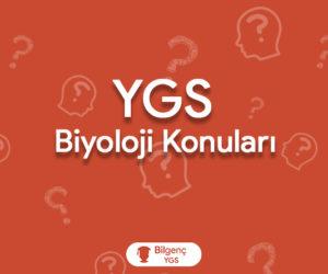 2019 YGS Biyoloji Konuları