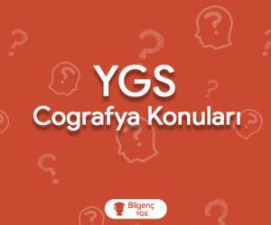2019 YGS Coğrafya Konuları