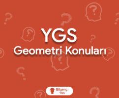 2019 YGS Geometri Konuları