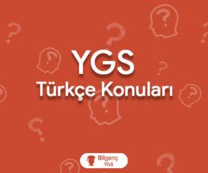 2019 YGS Türkçe Konuları