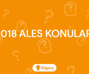 2018 ALES Konuları