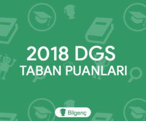 DGS Biyokimya 2018 Taban Puanları ve Kontejanları