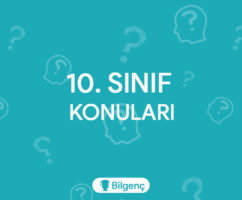 10. Sınıf Türk Dili ve Edebiyatı Konuları ve Müfredatı (2020-2021) MEB