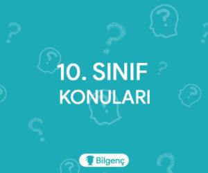 10. Sınıf Dil ve Anlatım Konuları (2018-2019) MEB