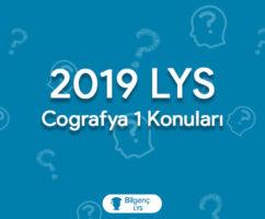 2019 LYS Coğrafya Konuları ve Soru Dağılımları