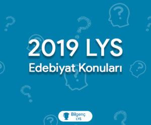 2019 LYS Edebiyat Konuları ve Soru Dağılımları (ÖSYM)
