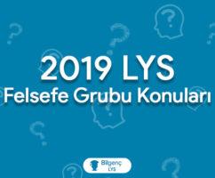 2019 LYS Felsefe Grubu Konuları ve Soru Dağılımları (ÖSYM)