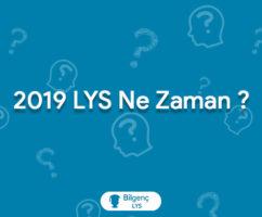 2019 LYS Ne Zaman   2019 LYS Tarihi