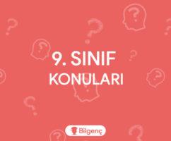 9. Sınıf Türk Dili ve Edebiyatı Konuları ve Müfredatı (2019-2020) MEB
