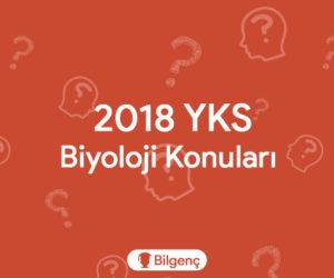 2019 YKS Biyoloji Konuları ve Soru Dağılımları (ÖSYM)