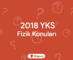 2019 YKS Fizik Konuları ve Soru Dağılımları (ÖSYM)