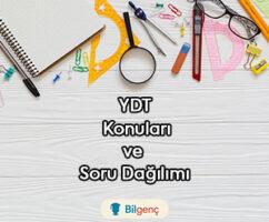 2021 YDT Yabancı Dil Konuları ve Soru Dağılımı (ÖSYM)