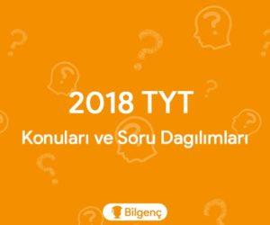 2018 TYT Konuları ve Soru Dağılımları (ÖSYM)