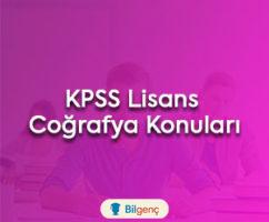 2018 KPSS Lisans Coğrafya Konuları