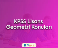 2021 KPSS Lisans Geometri Konuları ve Soru Dağılımı