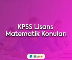 2018 KPSS Lisans Matematik Konuları