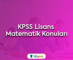 2020 KPSS Lisans Matematik Konuları ve Soru Dağılımı