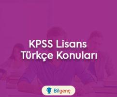 2018 KPSS Lisans Türkçe Konuları