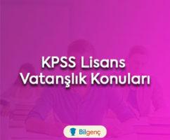 2018 KPSS Lisans Vatandaşlık Konuları