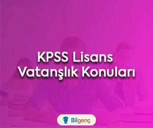2019 KPSS Lisans Vatandaşlık Konuları ve Soru Dağılımları