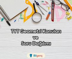 2019 TYT Geometri Konuları ve Soru Dağılımı (ÖSYM)