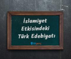 İslamiyet Etkisindeki (Geçiş Dönemi) Türk Edebiyatı ve Özellikleri