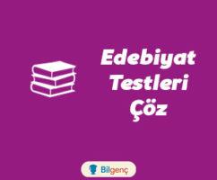 Halk Edebiyatı Test | Online Test Çöz
