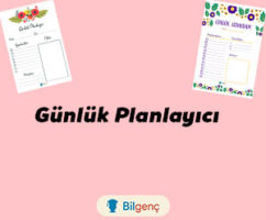 Günlük Planlayıcı İndir (PDF) | Günlük Planlayıcı Örnekleri