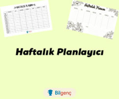 Haftalık Planlayıcı İndir (PDF) | Haftalık Planlayıcı Örnekleri