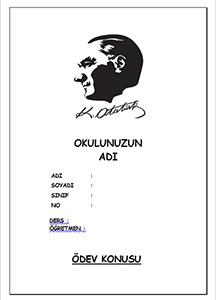 Atatürk Ödev Kapağı-2
