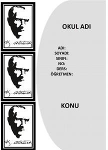 Atatürk Ödev Kapağı-3