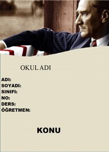 Atatürk Ödev Kapağı-4