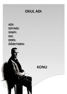 Atatürk Ödev Kapağı-8