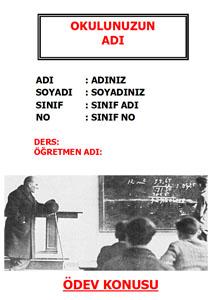 Atatürk Ödev Kapağı-9