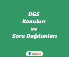 2019 DGS Konuları ve Soru Dağılımları (ÖSYM)