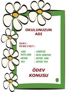 Türkçe Ödev Kapağı Resmi-2