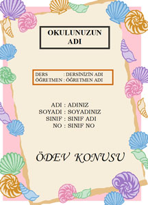 Türkçe Ödev Kapağı Resmi-3