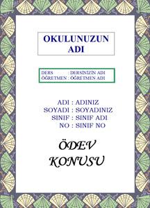 Türkçe Ödev Kapağı Resmi-8
