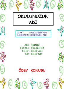 Türkçe Ödev Kapağı Resmi-9